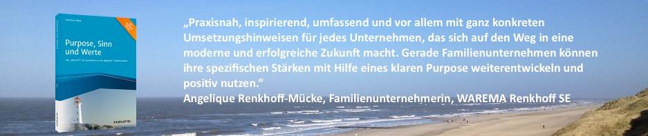 Angelique Renkhoff-Mücke zum Buch_Purpose, Sinn und Werte_von Karlheinz Illner.